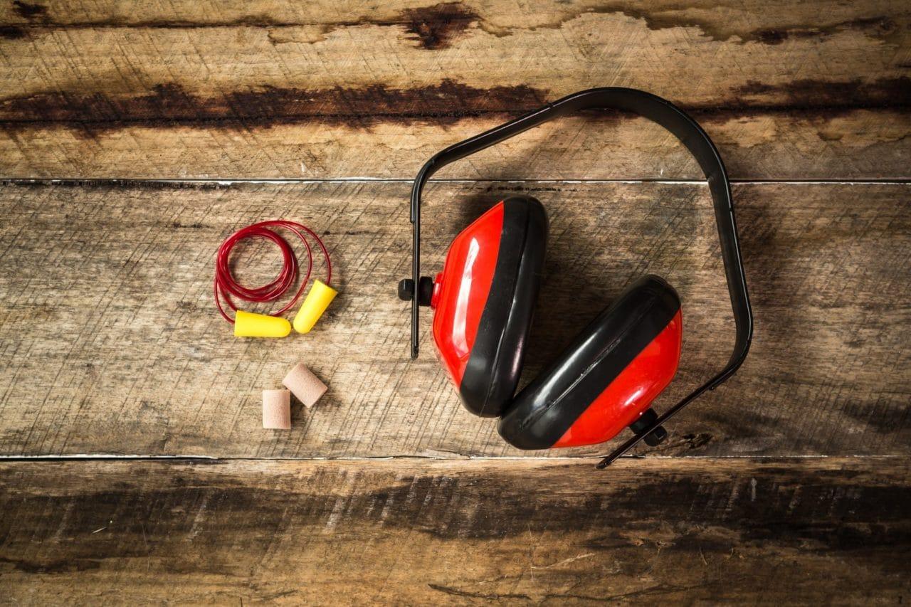 Protective equipment including headphones,  and earplugs